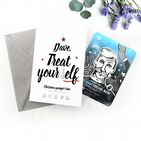Personalised Christmas Card With Pamper Face Mask